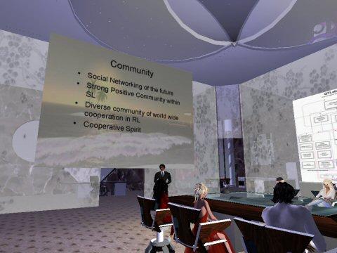Reunión de todo el equipo de AVIE en Second Life